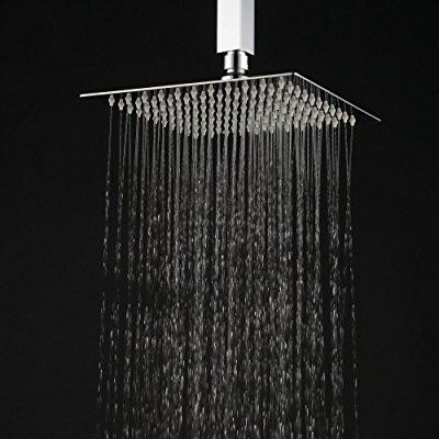 Beau ... Hiendure 12 Inch High Pressure Ultra Thin 304 Stainless Steel Square  Rain Shower Head,