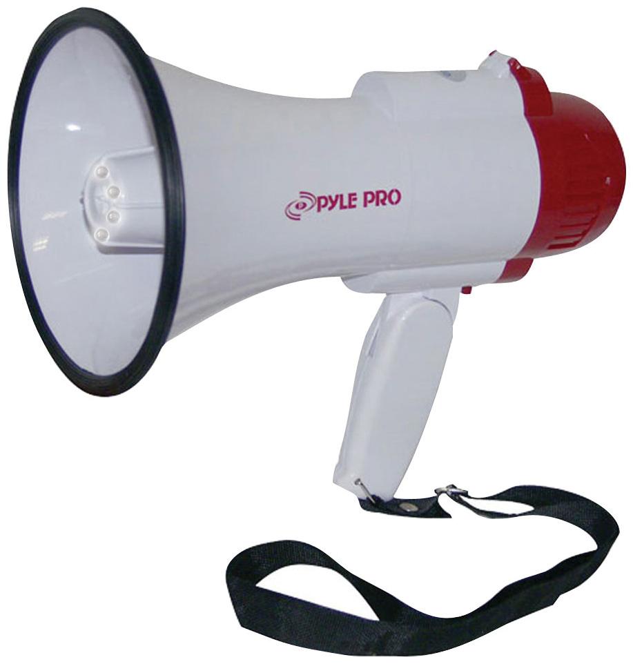PYLE PRO PMP37LED Mini Compact Megaphone Bullhorn with Siren Alarm & LED Lights