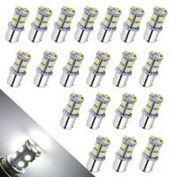 LED Car Lights Bulb 1156 BA15S 13-SMD 5050 Car RV Backup Reverse Light Bulbs 1141 1073 1093 1129 DC 12V White 6000K (Pack of 20)