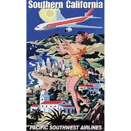 Pacific Southwest Airline Southern California Minicraft Collection 1000pc Puzzle Retro Vintage