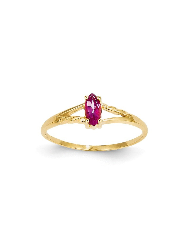 ICE CARATS 14kt Yellow Gold Pink Tourmaline Birthstone Band Ring Size 7.00 Stone October Marquise Fine Jewelry Ideal... by IceCarats Designer Jewelry Gift USA