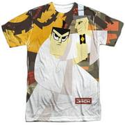 Samurai Jack Cartoon Network TVSeries Warrior Stance Adult 2-Sided Print T-Shirt