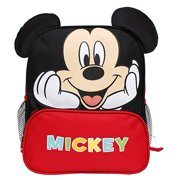 "Disney Mickey Mouse New 3D Ears Red & Black 12"" Small Boys' School Backpack…"