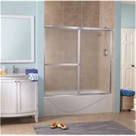 Tub Door Obscure Glass - Lakeside Sliding Tub Door, 0.15 in. Obscure Glass, 56-60 x 55 in. - Silver
