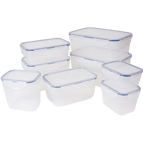 Lock Lock 16 Piece Food Storage Set Walmartcom
