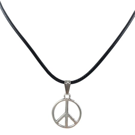 Retro Charm (Outtop New Retro Peace Necklace Pendant Black Leather Cord Choker Charm )