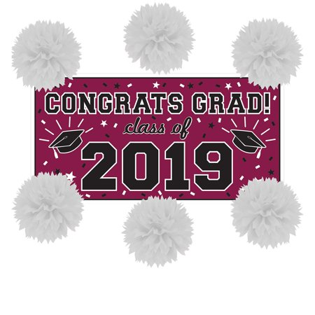 Party City Congrats Grad Graduation Wall Decorating Kit - Party City Belmar
