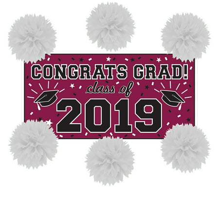 Party City Congrats Grad Graduation Wall Decorating Kit](Party City Whittier)