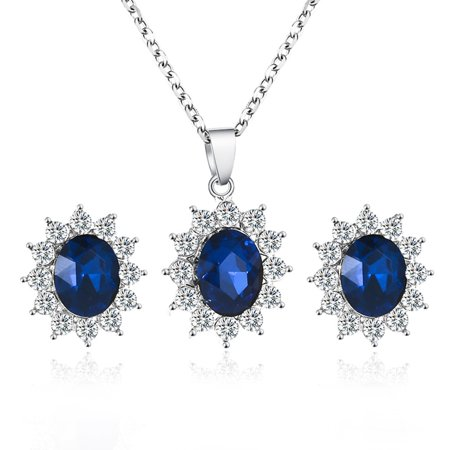 Fancyleo Necklace Earrings Jewelry Sets For Women Sparkling Cubic Zircon Sunflower Party Fashion Costume Costume Jewelry Necklace Earring