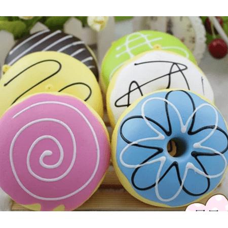 Squishy French Squishy Donuts Bun Jumbo Slow Rising Fun Toys Gift Cell Phone Pendant Decoration (Marshmallow Squishy Bun)