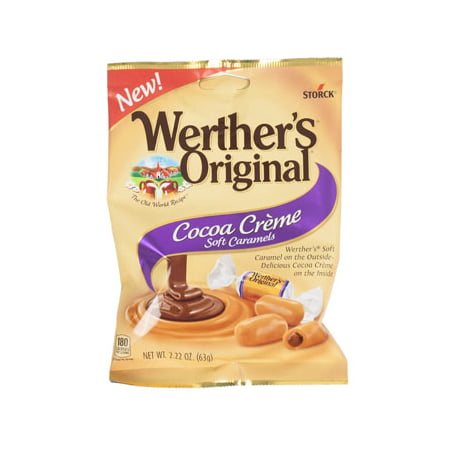 Candy Cocoa Creme Soft Caramels Werther's Original 2.22 Oz Peg, Qty: 1