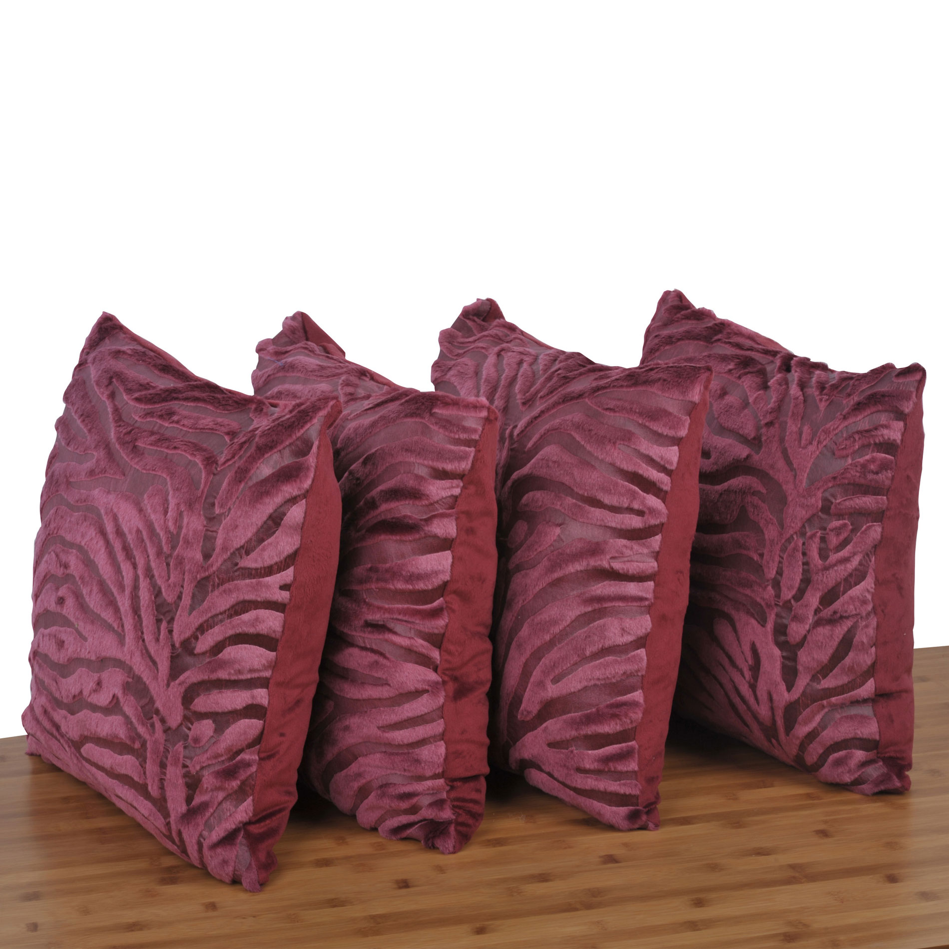 Serenta Embossed 4 Piece Mink Pillow Shell Set