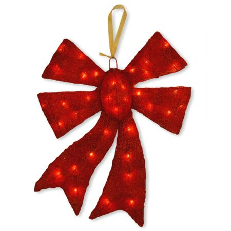 decorative d cor pre lit bow christmas decoration