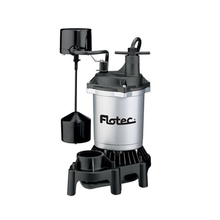 Flotec FPZS33V 1/3 HP 3600 GPH Max Flow Submersible Thermoplastic Sump