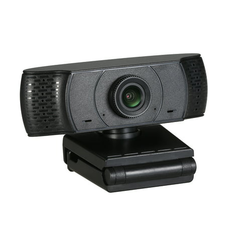 Full HD 1080P Webcam Video Conference Camera USB Webcam with Built-in Microphone Computer Camera for Laptop and Desktop, Support 360 Degrees Up and Down Rotation - image 1 de 7