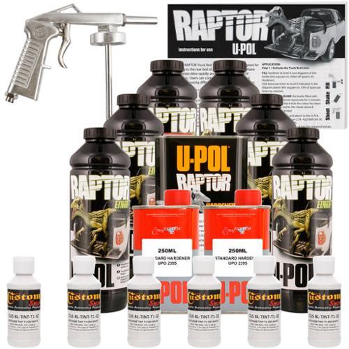 Raptor GM White Urethane Spray-On Truck Bed Liner Spray Gun, 6 Liters