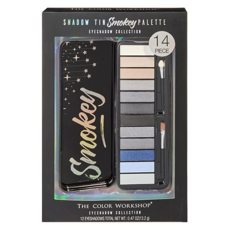 ($10 Value) The Color Workshop Smokey Eyeshadow Palette Tin, 14 Pieces ()