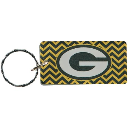 Green Bay Packers Chevron Printed Acrylic Team Color Logo Keychain - No Size](Packers Colors)