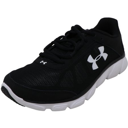 Under Armour Women's Micro G Assert Black / White Ankle-High Running - (Under Armour 4d Foam Micro G Womens)