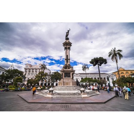 Independence Square, the Historic Centre of Quito Old Town, Quito, Ecuador, South America Print Wall Art By Matthew (The Independence Center)