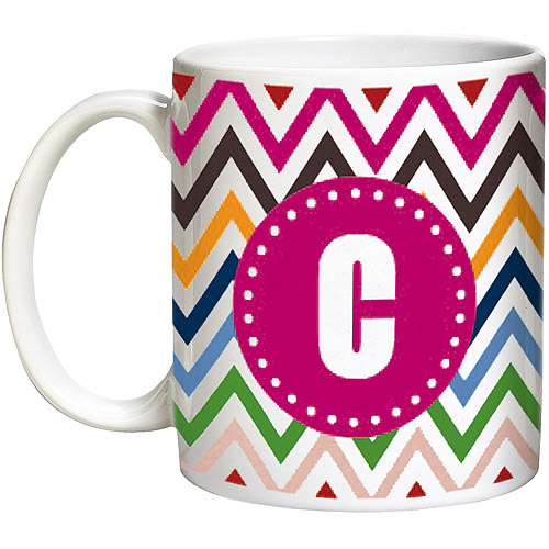 Personalized Chevron Mug, Pink or Blue, Available in 2 Sizes