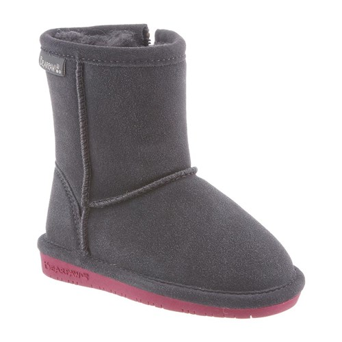 Bearpaw Emma Toddler Zipper Charcoal Pomberry 9 Emma Toddler Zipper by Bearpaw