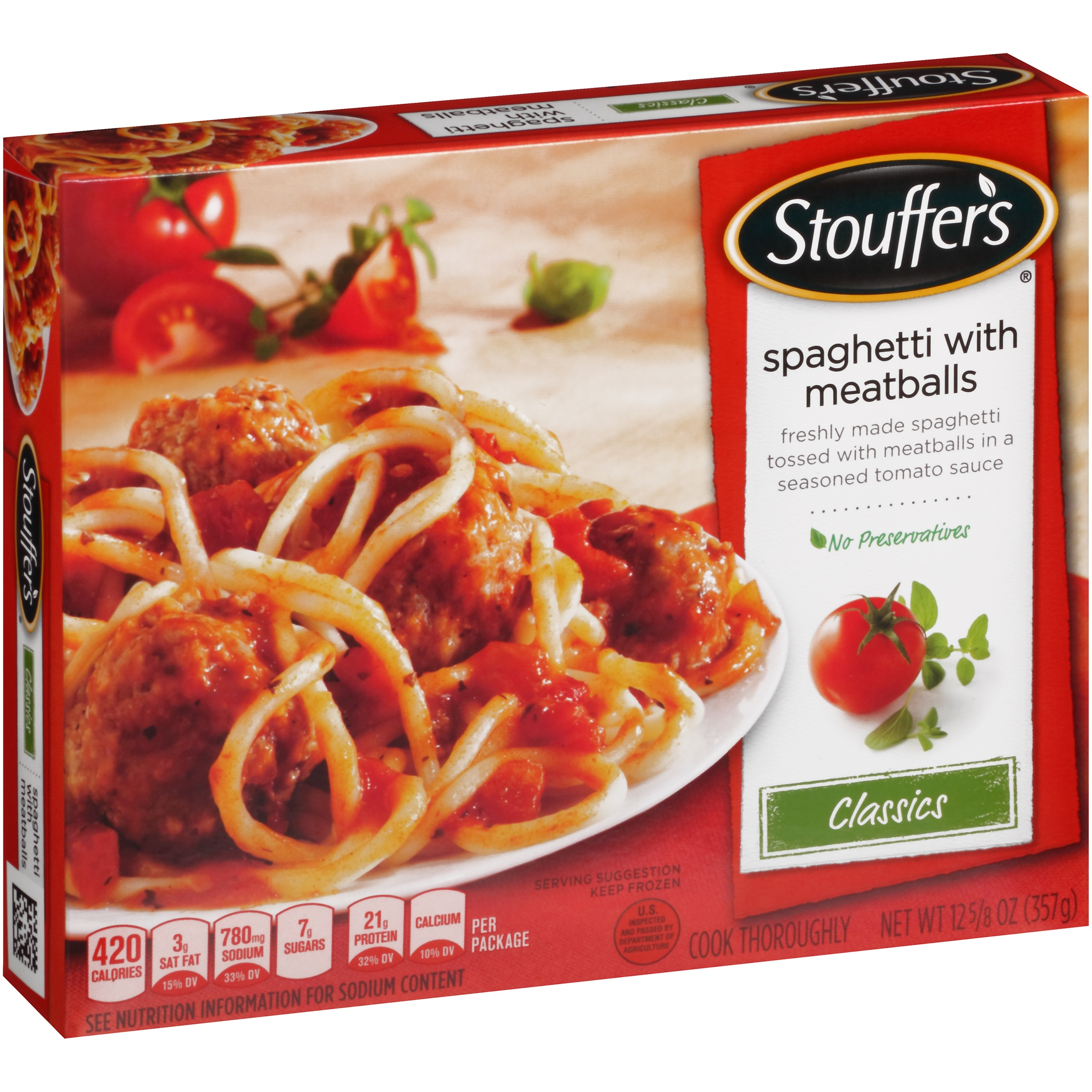 STOUFFER'S Classics Spaghetti with Meatballs 12.625 oz Box