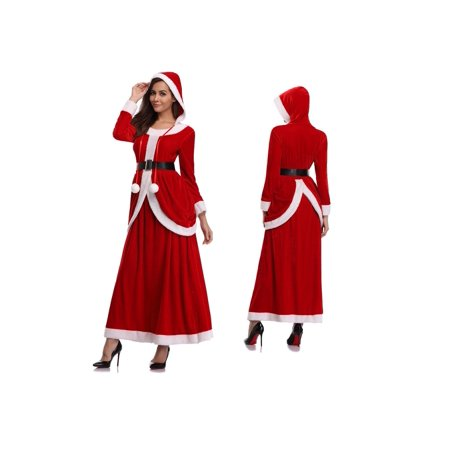Women's Deluxe Santa Clause Velvet Dress Christmas - Santa Costume Rentals