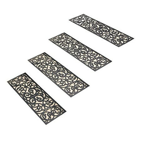 Skid Resistant Butterfly Stair Traction Treads - Set of 4,