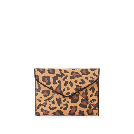 365d74738cf5 Design Lab - Leopard Print Envelope Clutch - Walmart.com
