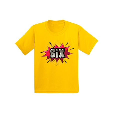 - Awkward Styles 6th Birthday Shirt Sixth Birthday Shirt for Boys Girls 6th Birthday Giftd for 6 Year Old Kids Pop Art Superhero Shirts for Youth Comic Book Shirts for Kids Superhero T-shirt
