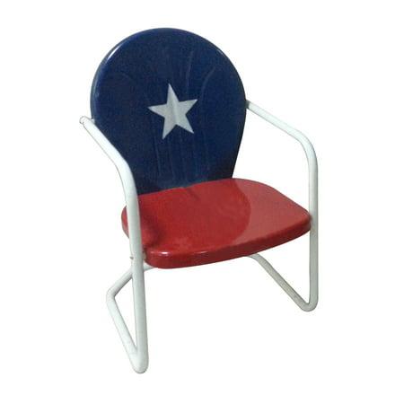 Leigh Country Retro Metal Texas Flag Chair