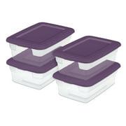 Sterilite 12 Qt. Storage Box White Case of 15