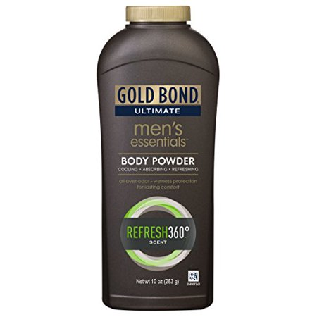 5 Pack Gold Bond Ultimate Men's Essentials Body Powder Refresh 360 Scent 10oz Ea thumbnail