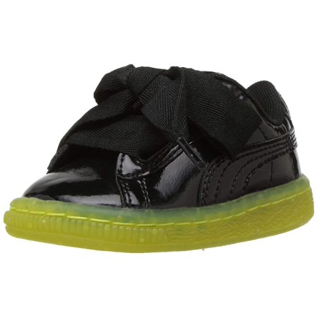 Puma Unisex-Child Basket Heart Iced Glitter Block Kids Sneaker
