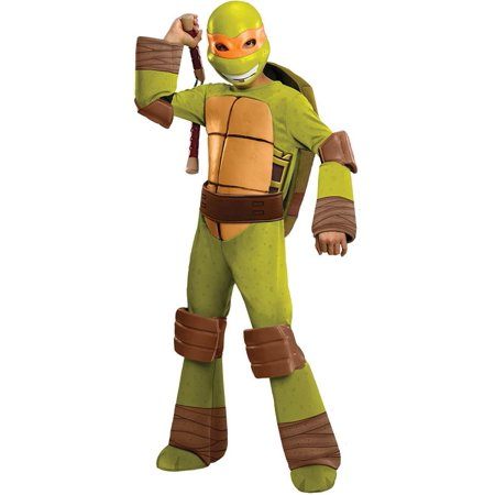 T.M.N.T. Deluxe Michelangelo Costume - Quick Easy And Cheap Halloween Costumes
