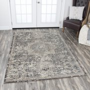 """Rizzy Home PN6977 Gray 7'10"""" x 10'10"""" Power-Loomed Area Rug"""