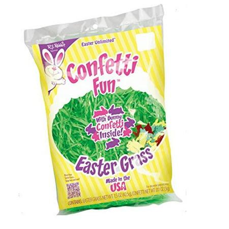 Confetti Fun Easter Grass New Asst. Colors - Easter Confetti