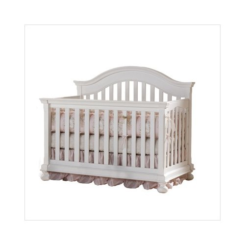 Bundle-66 Creations Baby Summer's Evening Convertible Crib in Rubbed White (2 Pieces)
