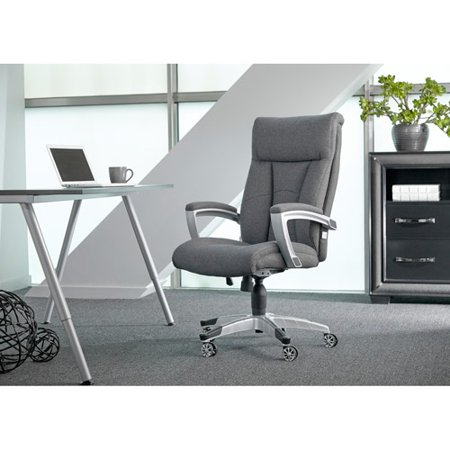 Sealy Posturepedic Office Chair Fabric Cool Foam Grey