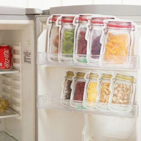 1* Silicone Food Storage Bag Reusable Seal Fresh Bag Milk 1000ml T5C2 Meat S7F9