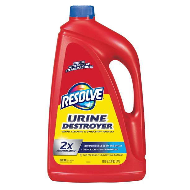Resolve Urine Destroyer 2X Carpet Concentrate for Steam Machines, 60oz