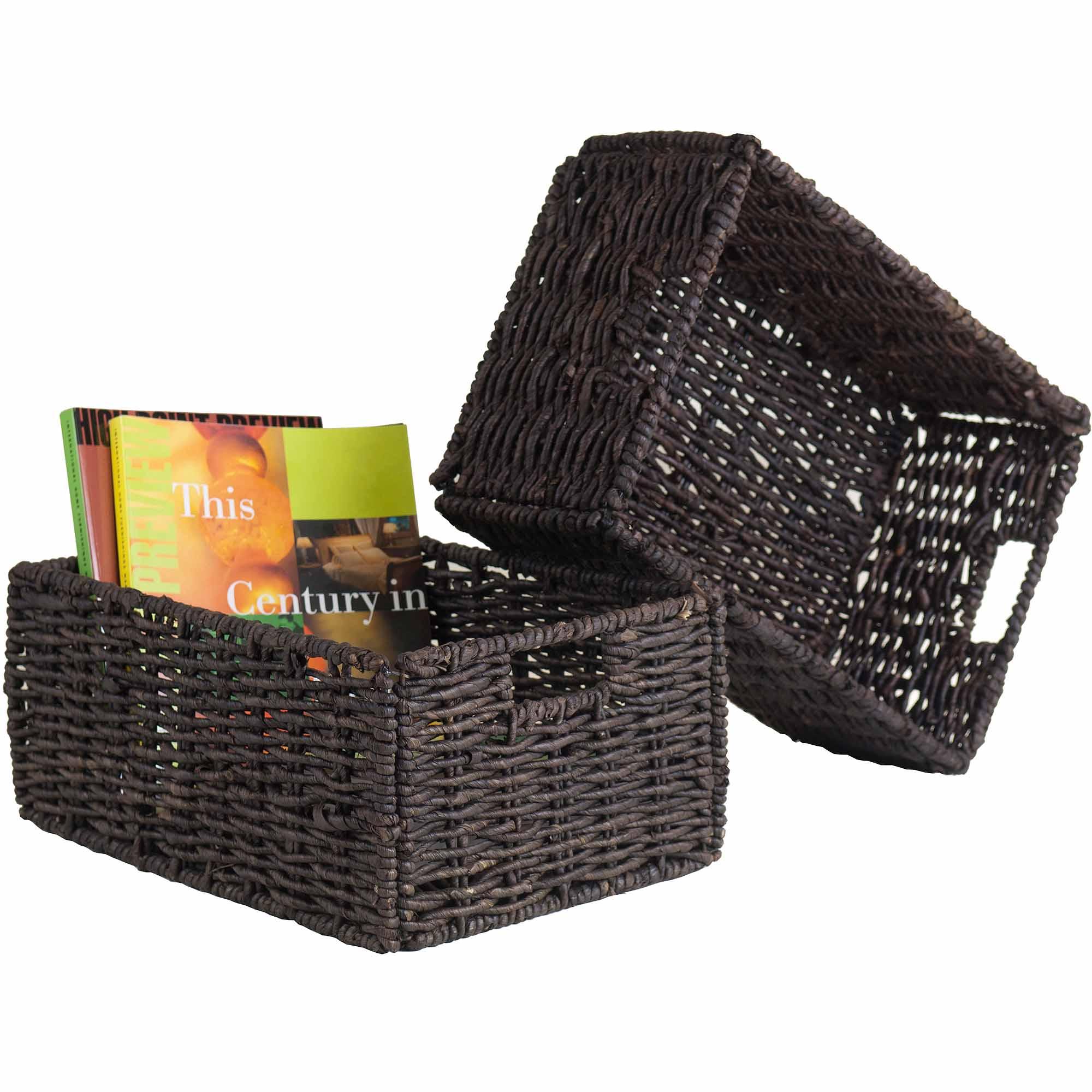Winsome Granville 2 Section 5 Piece Storage Shelf With 4 Foldable Baskets