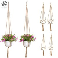 Luxtrada Indoor Hanging Planter Holder Macrame Plant Hanger Decorative Flower Pot Holder - Hanging Baskets For Plant  4 Packs, 2 Sizes
