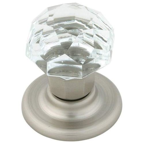 Allison Value 2 in (51 mm) Diameter Clear/Satin Nickel Cabinet Knob