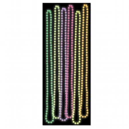 Glow In the Dark Party Beads - 24 Units - Glow In The Dark Colors