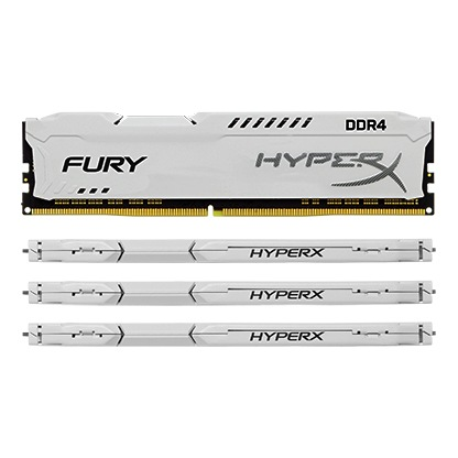 Kingston Technology HyperX FURY White 64GB 2933MHz DDR4 CL17 DIMM(Kit of 4) HX429C17FWK4/64