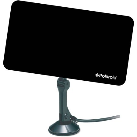 Polaroid TA-3500P HDTV Ultra Thin Antenna for Indoor Use, Black
