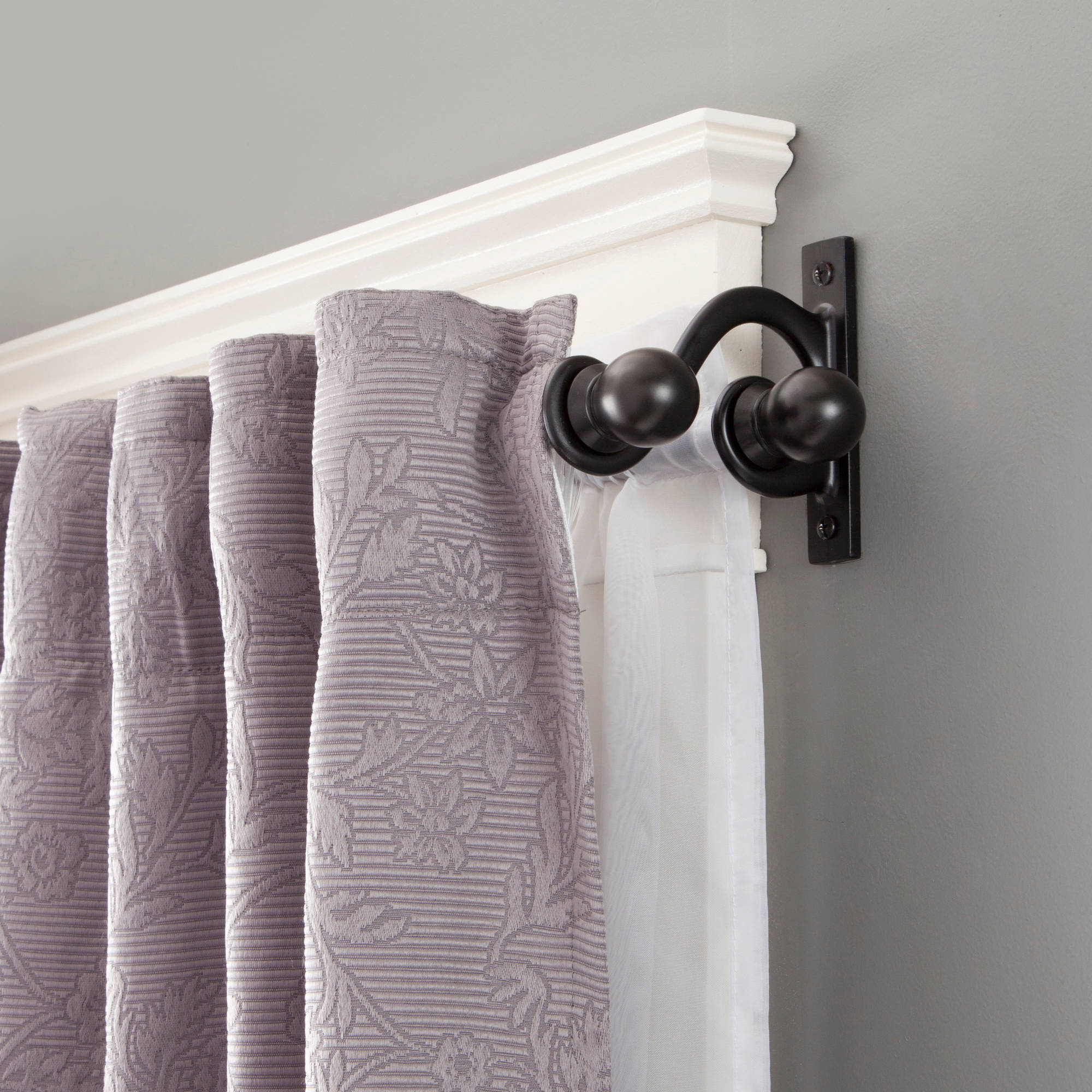 Double Curtain Rod Set by Kenney