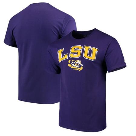 LSU Tigers Russell Crew Core Print T-Shirt - Purple
